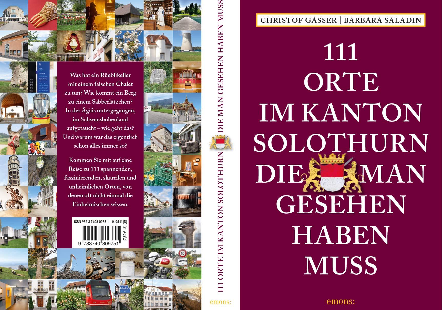 Buchpräsentation «111 Orte im Kanton Solothurn, die man gesehen haben muss»